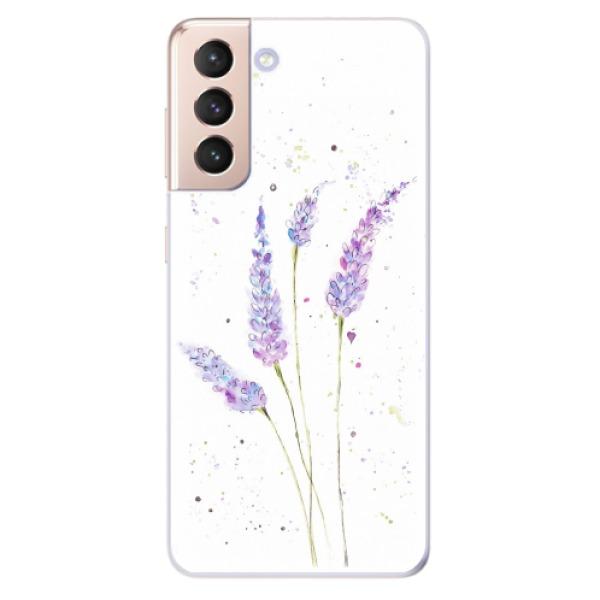 Odolné silikonové pouzdro iSaprio - Lavender - Samsung Galaxy S21