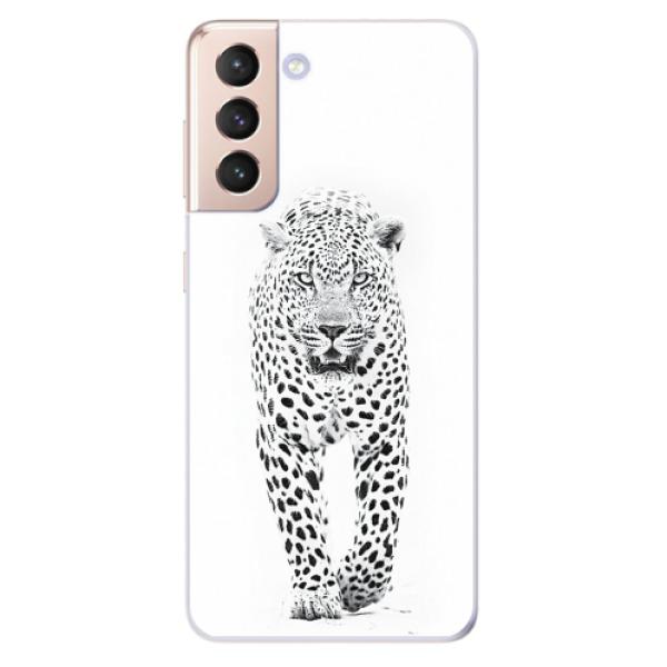 Odolné silikonové pouzdro iSaprio - White Jaguar - Samsung Galaxy S21
