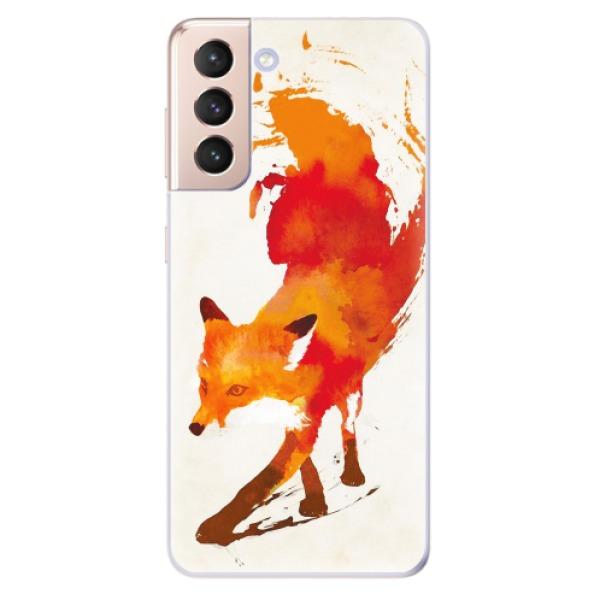 Odolné silikonové pouzdro iSaprio - Fast Fox - Samsung Galaxy S21