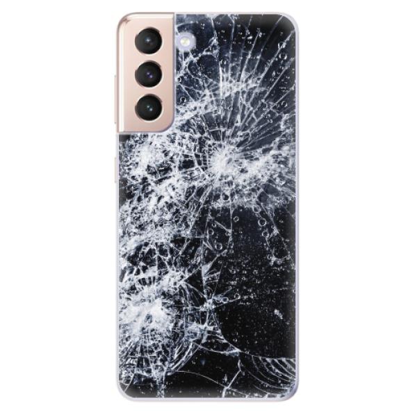 Odolné silikonové pouzdro iSaprio - Cracked - Samsung Galaxy S21