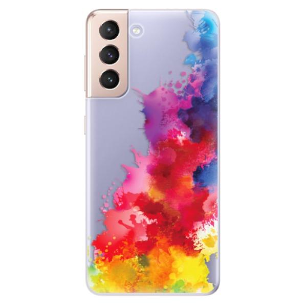 Odolné silikonové pouzdro iSaprio - Color Splash 01 - Samsung Galaxy S21