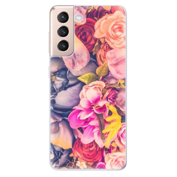 Odolné silikonové pouzdro iSaprio - Beauty Flowers - Samsung Galaxy S21