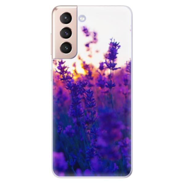 Odolné silikonové pouzdro iSaprio - Lavender Field - Samsung Galaxy S21