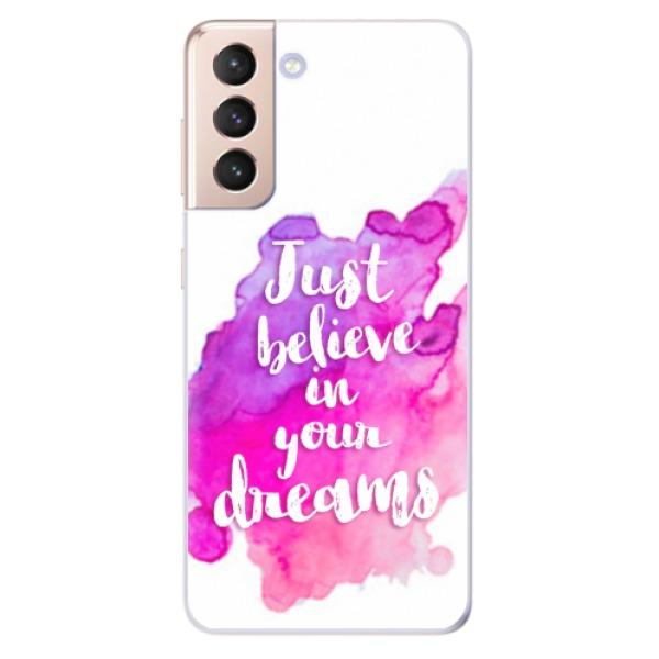 Odolné silikonové pouzdro iSaprio - Believe - Samsung Galaxy S21