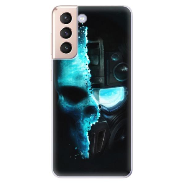 Odolné silikonové pouzdro iSaprio - Roboskull - Samsung Galaxy S21