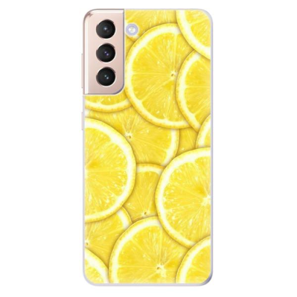Odolné silikonové pouzdro iSaprio - Yellow - Samsung Galaxy S21