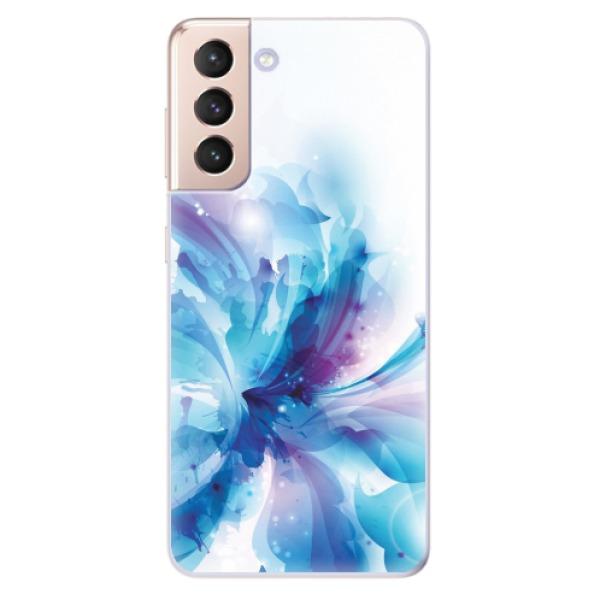 Odolné silikonové pouzdro iSaprio - Abstract Flower - Samsung Galaxy S21
