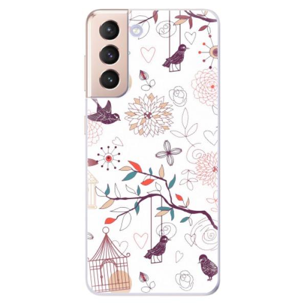 Odolné silikonové pouzdro iSaprio - Birds - Samsung Galaxy S21