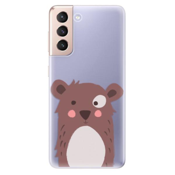 Odolné silikonové pouzdro iSaprio - Brown Bear - Samsung Galaxy S21