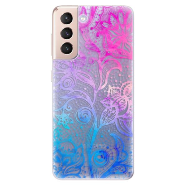 Odolné silikonové pouzdro iSaprio - Color Lace - Samsung Galaxy S21