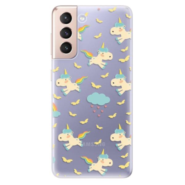 Odolné silikonové pouzdro iSaprio - Unicorn pattern 01 - Samsung Galaxy S21