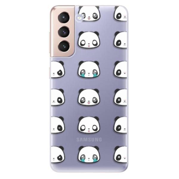 Odolné silikonové pouzdro iSaprio - Panda pattern 01 - Samsung Galaxy S21