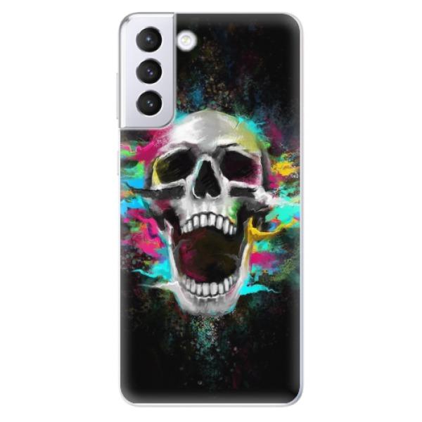 Odolné silikonové pouzdro iSaprio - Skull in Colors - Samsung Galaxy S21+