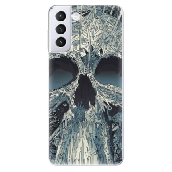 Odolné silikonové pouzdro iSaprio - Abstract Skull - Samsung Galaxy S21+