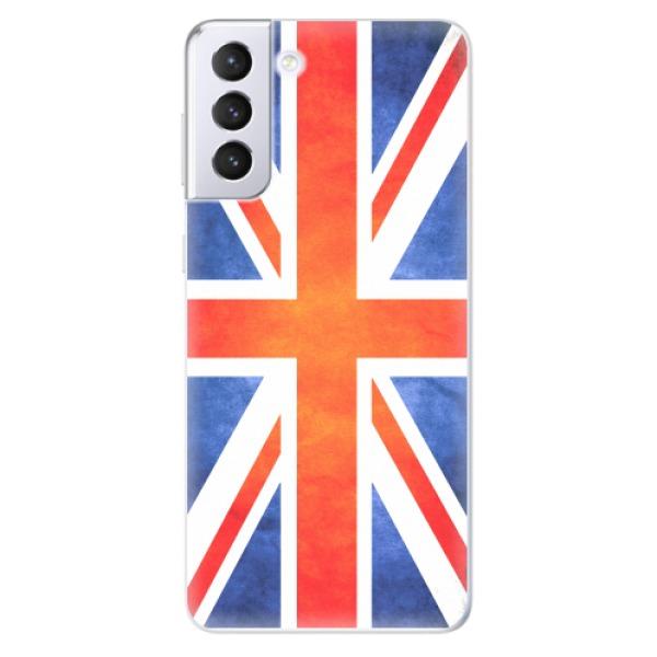 Odolné silikonové pouzdro iSaprio - UK Flag - Samsung Galaxy S21+