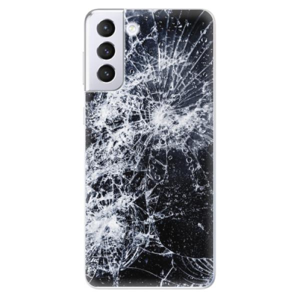 Odolné silikonové pouzdro iSaprio - Cracked - Samsung Galaxy S21+