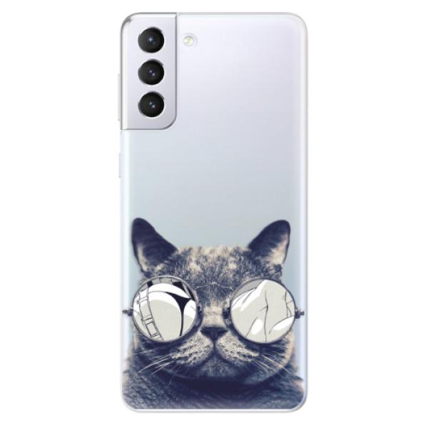 Odolné silikonové pouzdro iSaprio - Crazy Cat 01 - Samsung Galaxy S21+