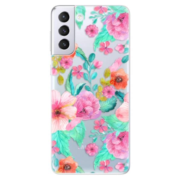 Odolné silikonové pouzdro iSaprio - Flower Pattern 01 - Samsung Galaxy S21+