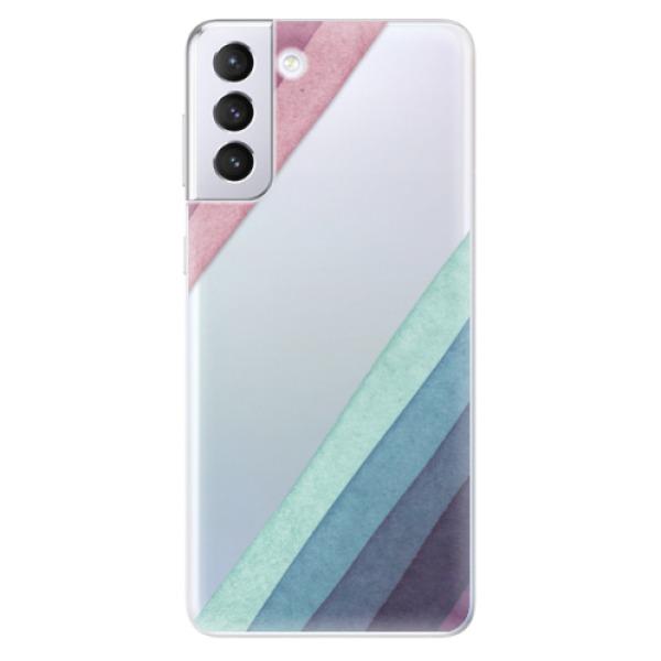 Odolné silikonové pouzdro iSaprio - Glitter Stripes 01 - Samsung Galaxy S21+