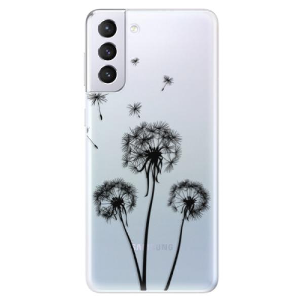 Odolné silikonové pouzdro iSaprio - Three Dandelions - black - Samsung Galaxy S21+