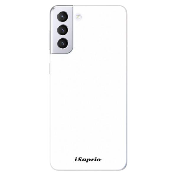 Odolné silikonové pouzdro iSaprio - 4Pure - bílý - Samsung Galaxy S21+