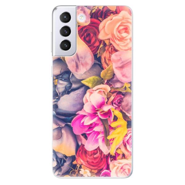 Odolné silikonové pouzdro iSaprio - Beauty Flowers - Samsung Galaxy S21+