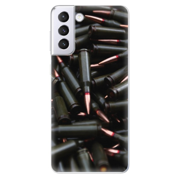 Odolné silikonové pouzdro iSaprio - Black Bullet - Samsung Galaxy S21+
