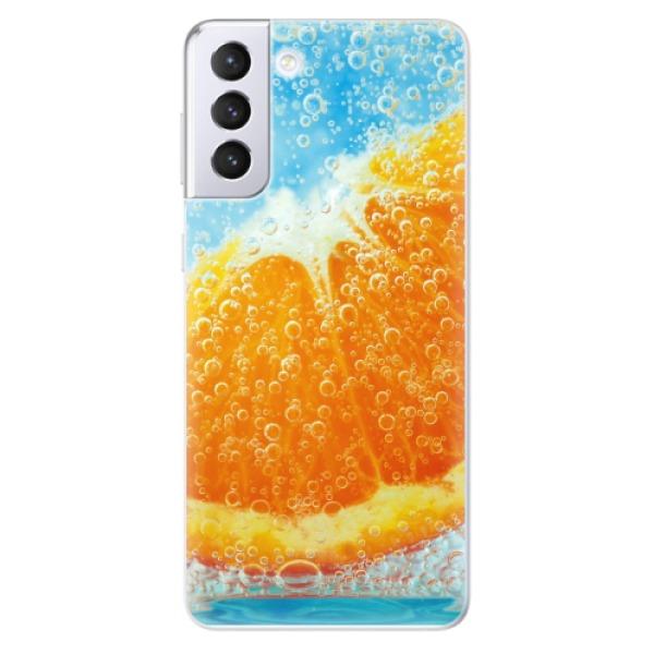 Odolné silikonové pouzdro iSaprio - Orange Water - Samsung Galaxy S21+