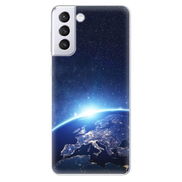 Odolné silikonové pouzdro iSaprio - Earth at Night - Samsung Galaxy S21+