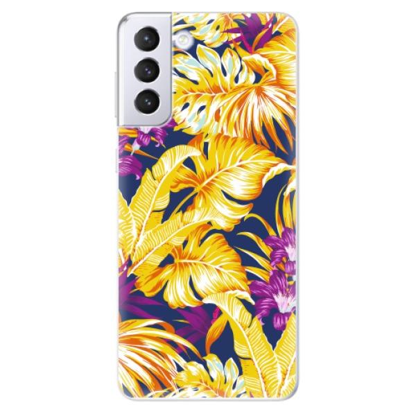 Odolné silikonové pouzdro iSaprio - Tropical Orange 04 - Samsung Galaxy S21+