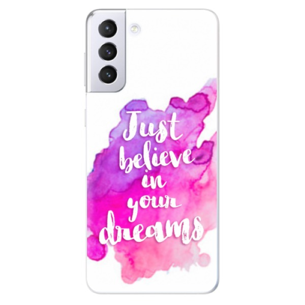 Odolné silikonové pouzdro iSaprio - Believe - Samsung Galaxy S21+