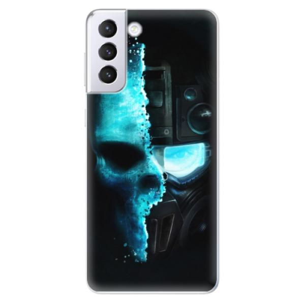 Odolné silikonové pouzdro iSaprio - Roboskull - Samsung Galaxy S21+