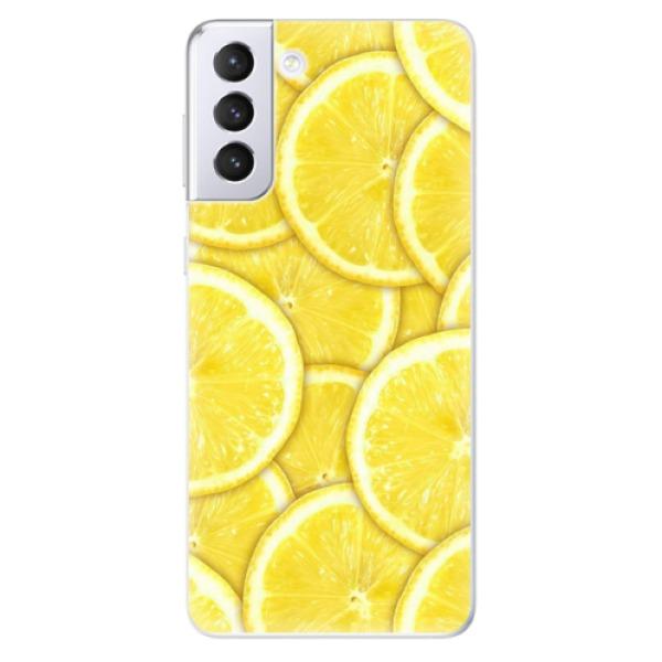 Odolné silikonové pouzdro iSaprio - Yellow - Samsung Galaxy S21+