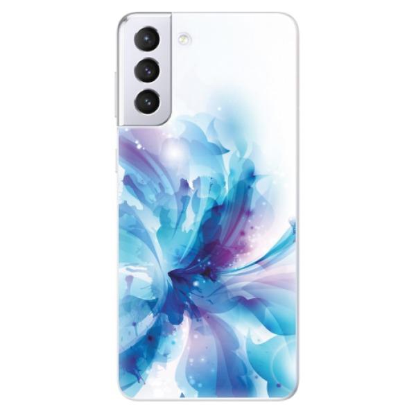 Odolné silikonové pouzdro iSaprio - Abstract Flower - Samsung Galaxy S21+