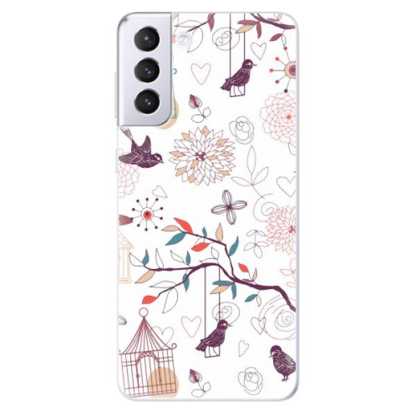 Odolné silikonové pouzdro iSaprio - Birds - Samsung Galaxy S21+