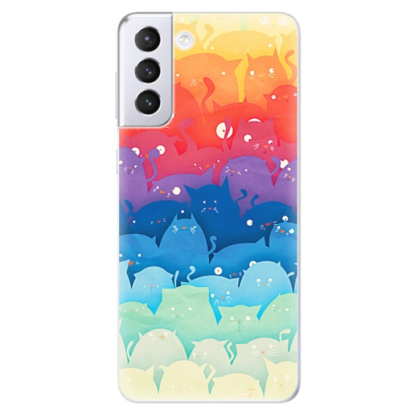 Odolné silikonové pouzdro iSaprio - Cats World - Samsung Galaxy S21+