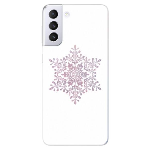 Odolné silikonové pouzdro iSaprio - Snow Flake - Samsung Galaxy S21+