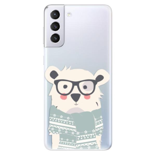 Odolné silikonové pouzdro iSaprio - Bear with Scarf - Samsung Galaxy S21+