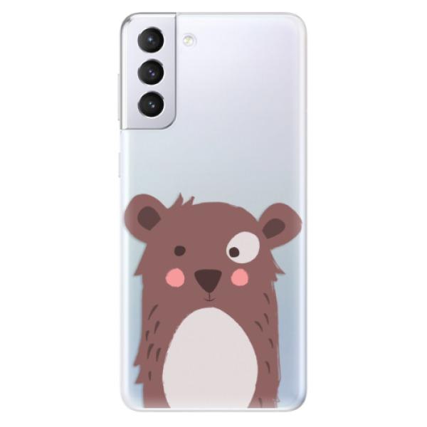 Odolné silikonové pouzdro iSaprio - Brown Bear - Samsung Galaxy S21+