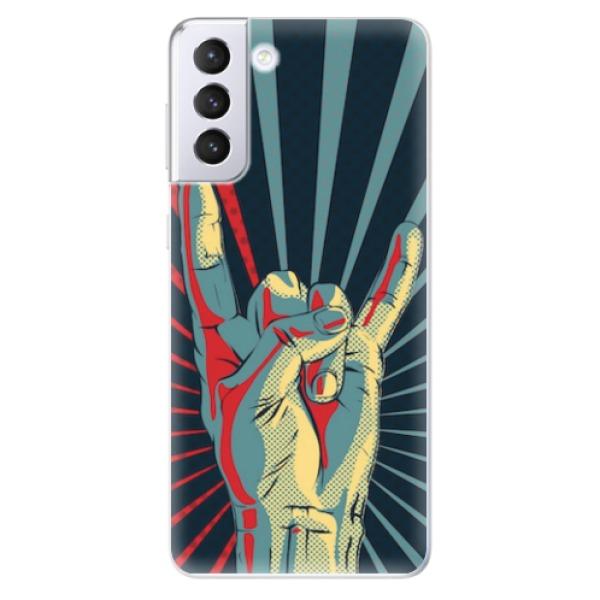 Odolné silikonové pouzdro iSaprio - Rock - Samsung Galaxy S21+