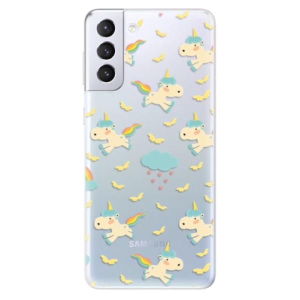 Odolné silikonové pouzdro iSaprio - Unicorn pattern 01 - Samsung Galaxy S21+