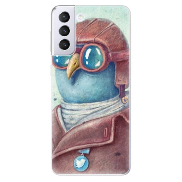 Odolné silikonové pouzdro iSaprio - Pilot twitter - Samsung Galaxy S21+