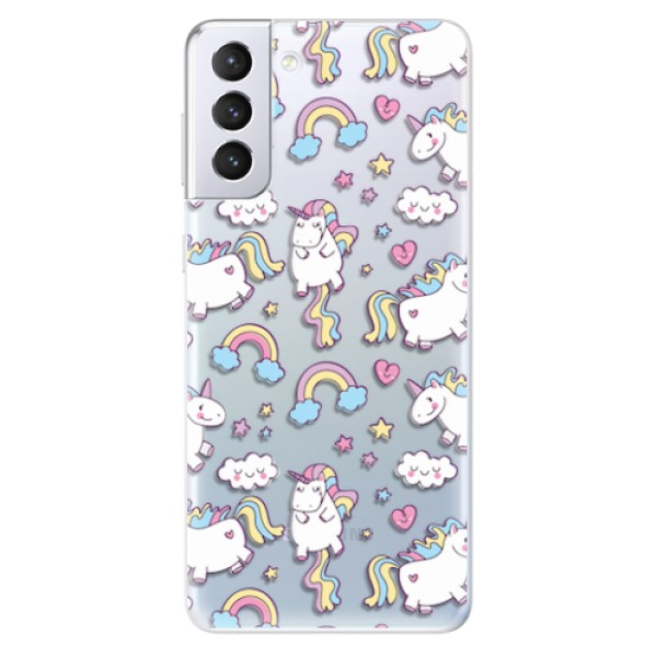 Odolné silikonové pouzdro iSaprio - Unicorn pattern 02 - Samsung Galaxy S21+
