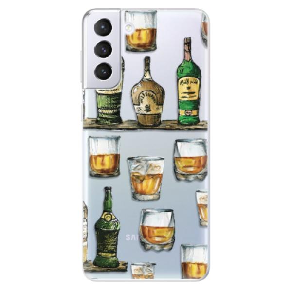 Odolné silikonové pouzdro iSaprio - Whisky pattern - Samsung Galaxy S21+