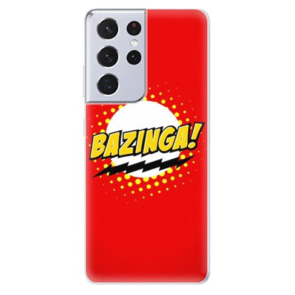 Odolné silikonové pouzdro iSaprio - Bazinga 01 - Samsung Galaxy S21 Ultra