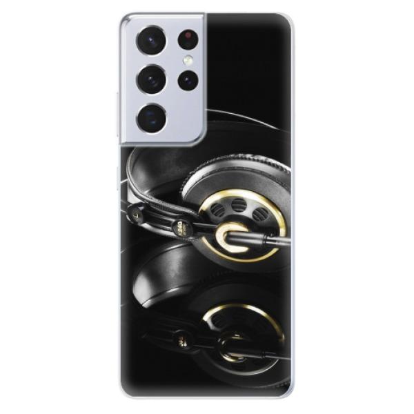 Odolné silikonové pouzdro iSaprio - Headphones 02 - Samsung Galaxy S21 Ultra