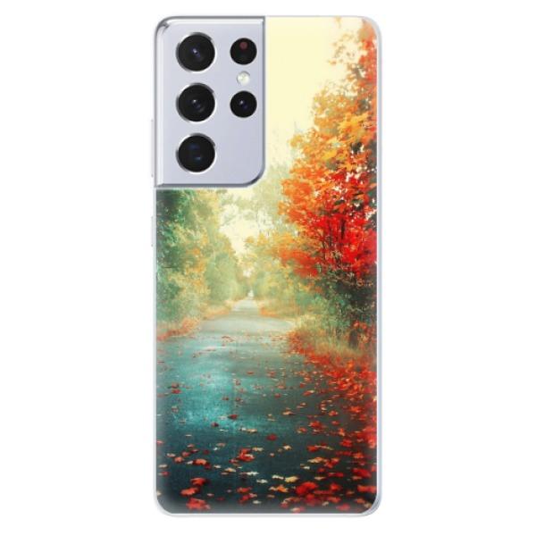 Odolné silikonové pouzdro iSaprio - Autumn 03 - Samsung Galaxy S21 Ultra