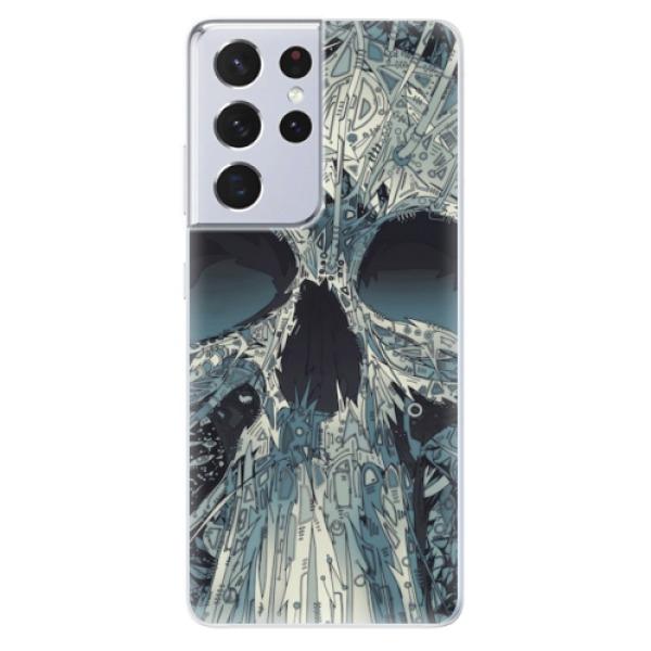 Odolné silikonové pouzdro iSaprio - Abstract Skull - Samsung Galaxy S21 Ultra