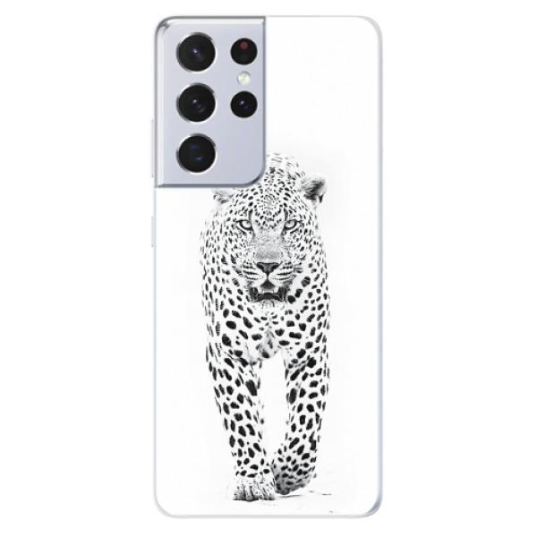 Odolné silikonové pouzdro iSaprio - White Jaguar - Samsung Galaxy S21 Ultra