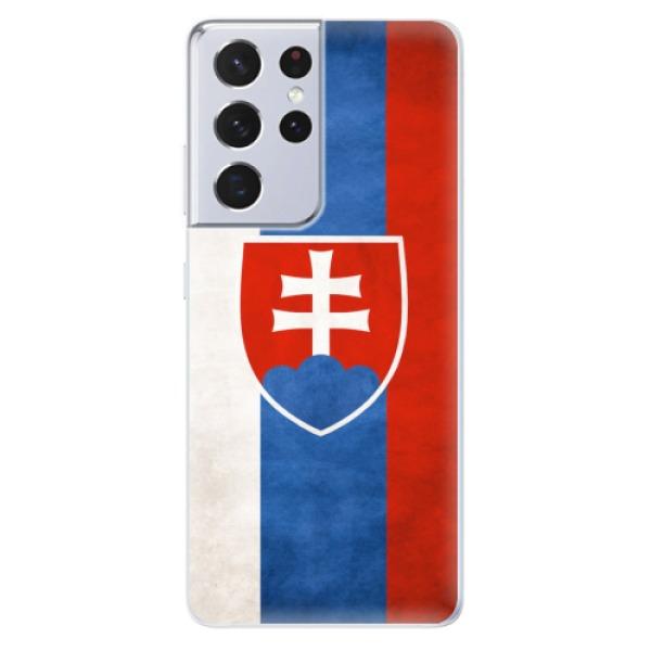 Odolné silikonové pouzdro iSaprio - Slovakia Flag - Samsung Galaxy S21 Ultra